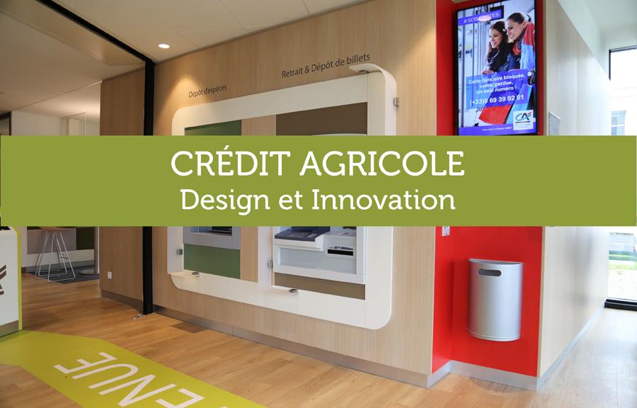 Mobilier sur-mesure pour agences bancaires Crédit Agricole