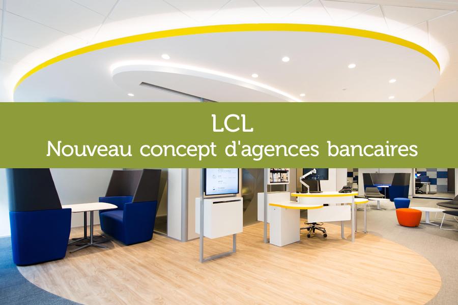 Agence LCL Strasbourg mobilier sur-mesure