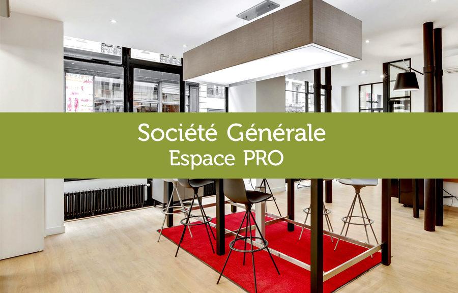 Mobilier sur-mesure pour Accueil Société Générale Espace pro