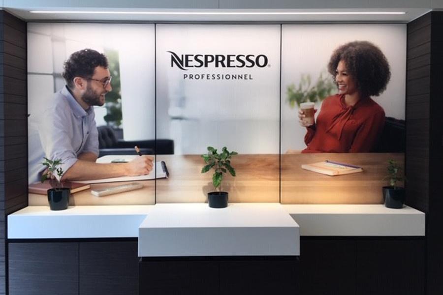 Meuble comptoir sur-mesure pour Nespresso
