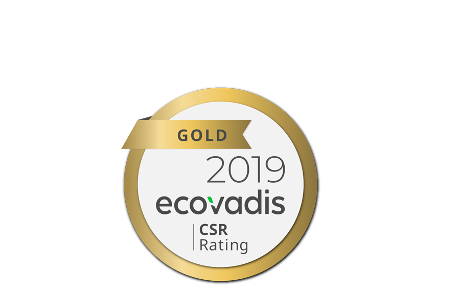 Logo médaille d'or Ecovadis 2019