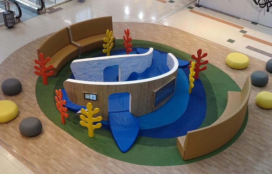Aire de jeux sur-mesure centre commercial Paris Bercy 2